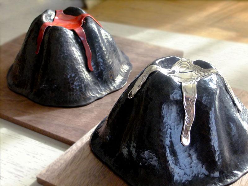 volcano 火山のお皿