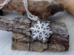Snow flake Silver necklace