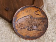 Capybara copper small tray